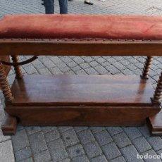 Antigüedades: MARAVILLOSA PIEZA CAMILLA DE NOGAL. Lote 130029435