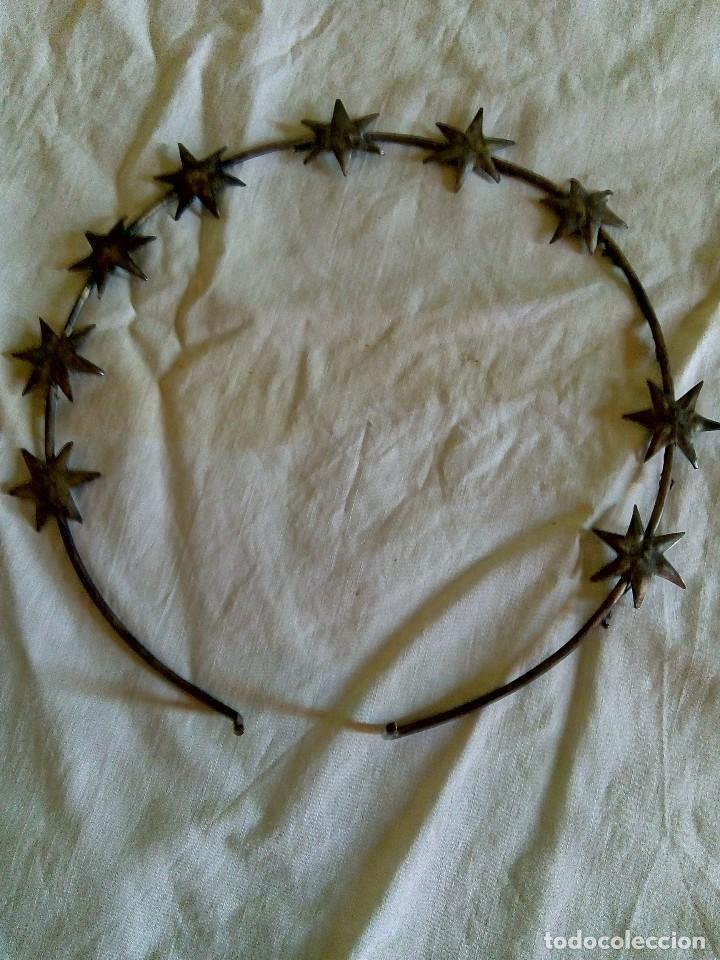 DIADEMA PARA IMAGEN (Antigüedades - Religiosas - Orfebrería Antigua)