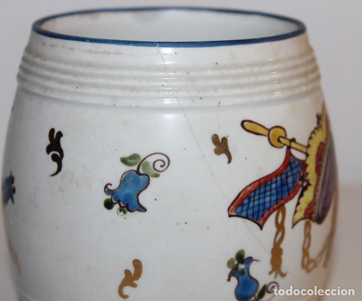 Antigüedades: JARRA EN PORCELANA FIRMADA POR GENIS CIRERA CON SELLO DE LA CARTUJA PICKMAN SEVILLA - Foto 3 - 130067935