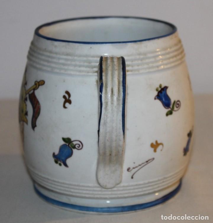 Antigüedades: JARRA EN PORCELANA FIRMADA POR GENIS CIRERA CON SELLO DE LA CARTUJA PICKMAN SEVILLA - Foto 7 - 130067935