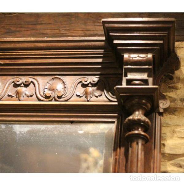 Antigüedades: Antiguo marco de madera de roble del siglo XIX - Foto 3 - 130120671