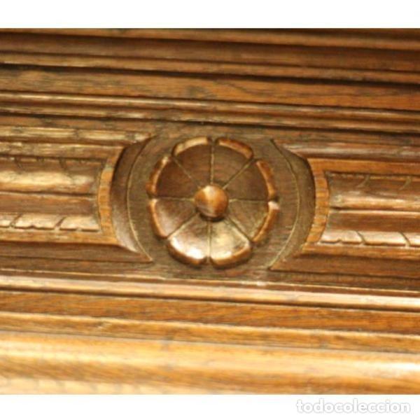 Antigüedades: Antiguo marco de madera de roble del siglo XIX - Foto 4 - 130120671