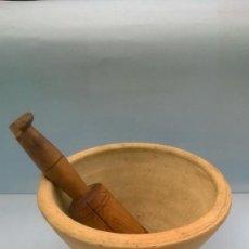Antigüedades: MORTERO BARRO BLANCO AGOST - ALICANTE - ALMIREZ. Lote 130123859