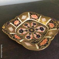 Antigüedades: BANDEJA DE PORCELANA INGLESA DE ROYAL CROWN DERBY 1685/1128 2. Lote 130196935