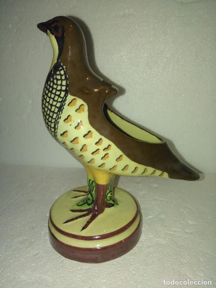Antigüedades: Preciosa perdiz salsera de cerámica de Alcora - Foto 3 - 130214695