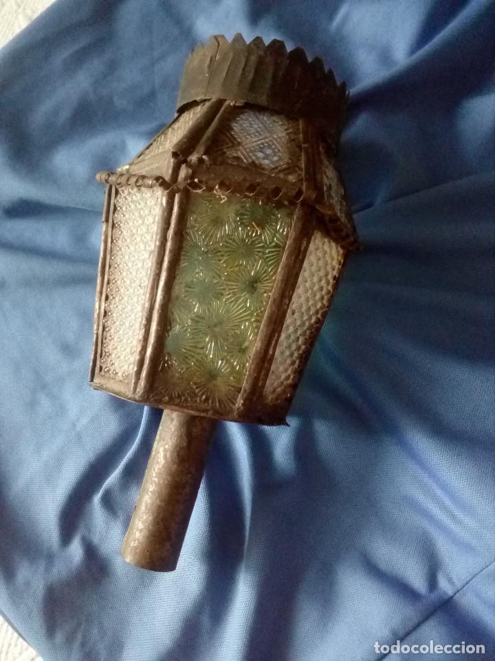 ANTIGUO Y PRECIOSO FAROL,FAROLILLO,DE PASO DE SEMANA SANTA,ZONA MEDINA DE RIOSECO-VALLADOLID. (Antigüedades - Iluminación - Faroles Antiguos)