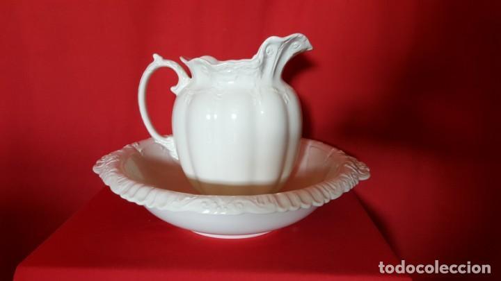 Antigüedades: Aguamanil con jarra en blanco. SAN CLAUDIO. KRISTINE. - Foto 2 - 130235854