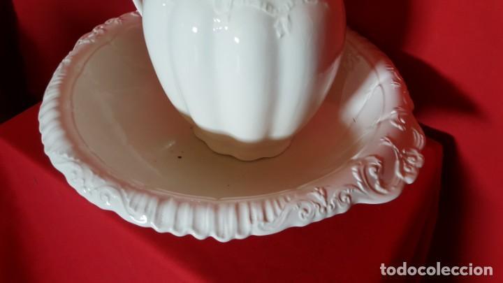 Antigüedades: Aguamanil con jarra en blanco. SAN CLAUDIO. KRISTINE. - Foto 4 - 130235854