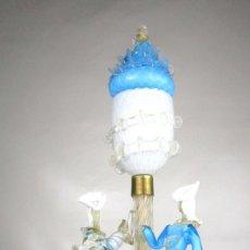 Antigüedades: EXCEPCIONAL LAMPARA VIP ANTIGUA BAROVIER & TOSSO CRISTAL MURANO Y POLVO ORO MIDCENTURY VENECIANA . Lote 130236930