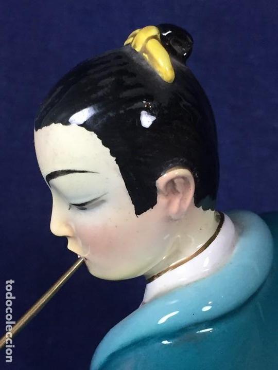 Antigüedades: figura loza italiana personaje oriental fumando asia marca en la base italia 1940 - Foto 25 - 130239346