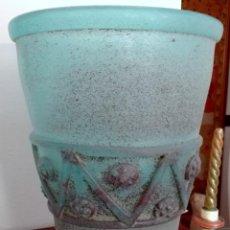 Antigüedades: GRAN VASIJA DE CRISTAL MALLORQUÍN LAFIORE. Lote 130255946