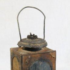 Antigüedades: ANTIGUO FAROL DE RENFE - PARA FERROCARRIL, TREN, GUARDAVIAS ETC. COMPLETAMENTE ORIGINAL. Lote 130257058