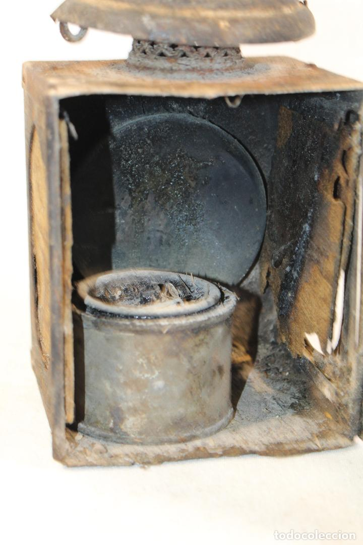 Antigüedades: ANTIGUO FAROL DE RENFE - PARA FERROCARRIL, TREN, GUARDAVIAS ETC. COMPLETAMENTE ORIGINAL - Foto 4 - 130257058