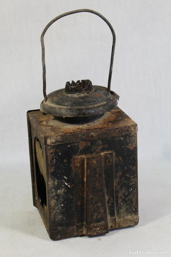 Antigüedades: ANTIGUO FAROL DE RENFE - PARA FERROCARRIL, TREN, GUARDAVIAS ETC. COMPLETAMENTE ORIGINAL - Foto 5 - 130257058