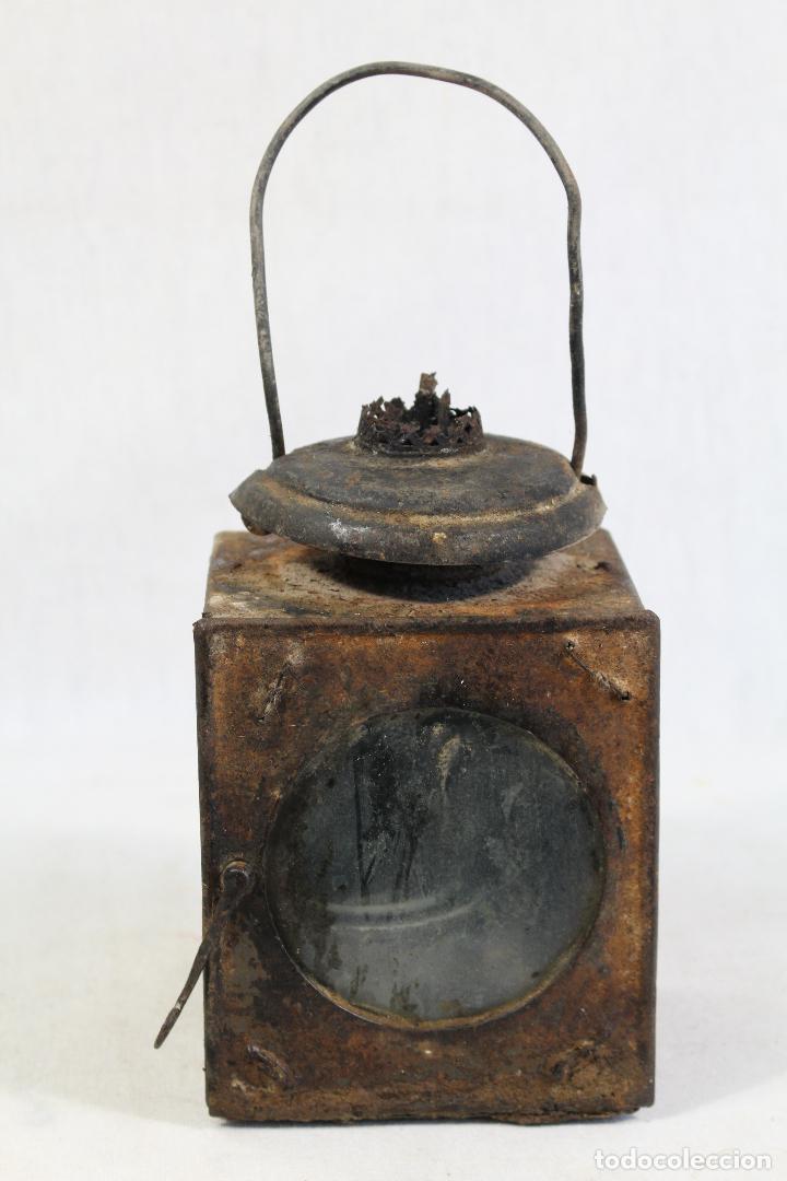 Antigüedades: ANTIGUO FAROL DE RENFE - PARA FERROCARRIL, TREN, GUARDAVIAS ETC. COMPLETAMENTE ORIGINAL - Foto 8 - 130257058
