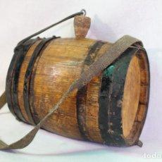 Antigüedades: BARRIL - TONEL PEQUEÑO DE ROBLE. Lote 130260438