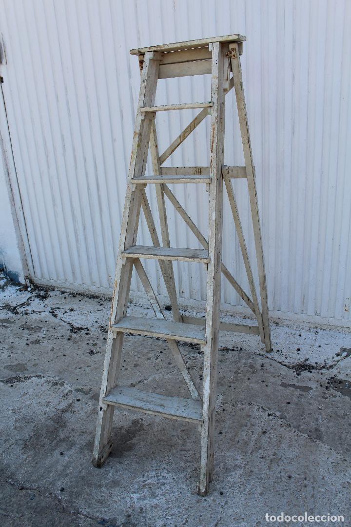 Antigüedades: escalera de madera antigua - Foto 3 - 141272461