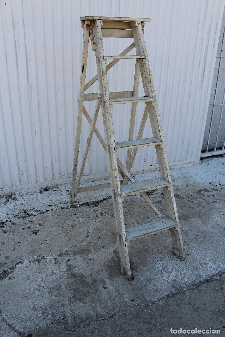 Antigüedades: escalera de madera antigua - Foto 4 - 141272461