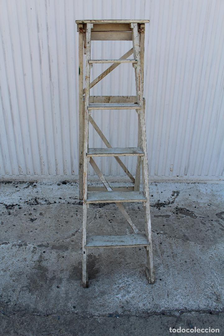Antigüedades: escalera de madera antigua - Foto 5 - 141272461
