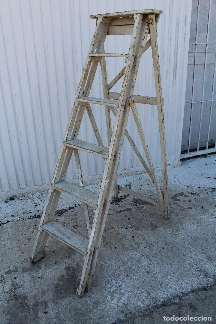Antigüedades: escalera de madera antigua - Foto 6 - 141272461