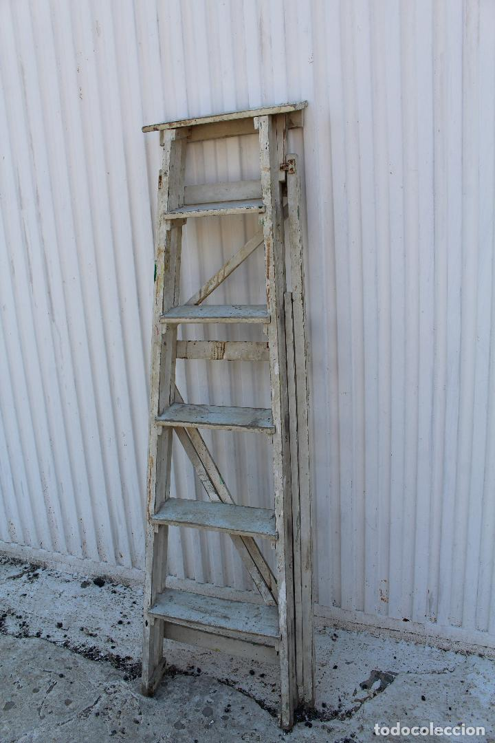 Antigüedades: escalera de madera antigua - Foto 7 - 141272461