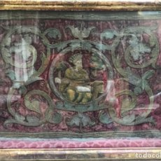 Antiquitäten - Importante bordado S. XVII enmarcado con marco de epoca - 130269726