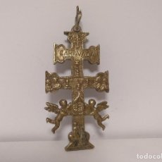 Antigüedades: CRUZ DE CARAVACA SIGLO XVIII 15 CM. Lote 130296154