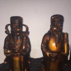 Antigüedades: FIGURAS SABIOS O DIOSES ORIENTALES GRAN TAMAÑO. Lote 130300992