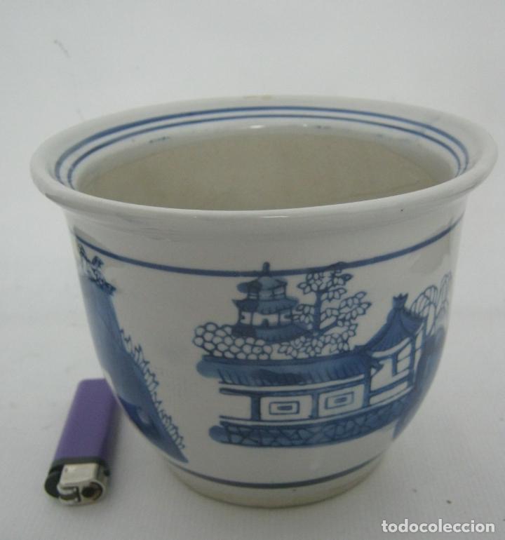 macetero ceramica decoracion palacio y jardin en azul - China segunda mano