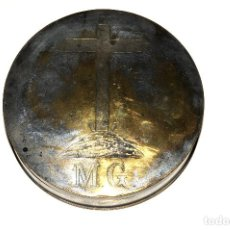 Antigüedades: HOSTIARIO EN BRONCE PLATEADO - SIGLO. XVIII. Lote 130324090