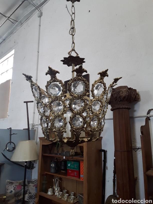 LÁMPARA DE CRISTALES (Antigüedades - Iluminación - Lámparas Antiguas)