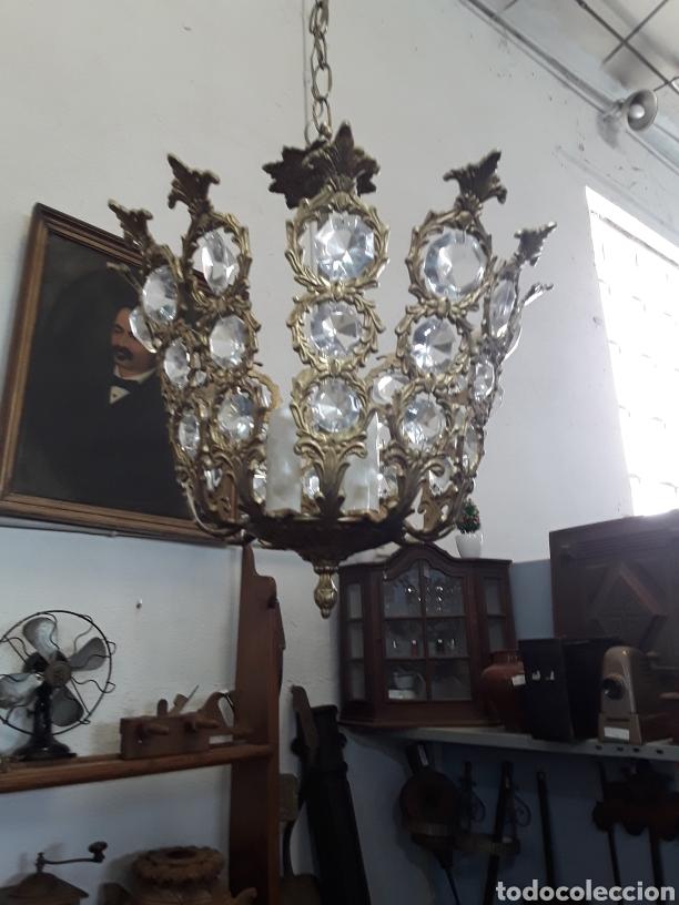 Antigüedades: Lámpara de cristales - Foto 2 - 130334432