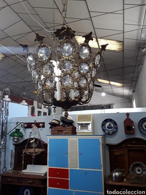 Antigüedades: Lámpara de cristales - Foto 3 - 130334432