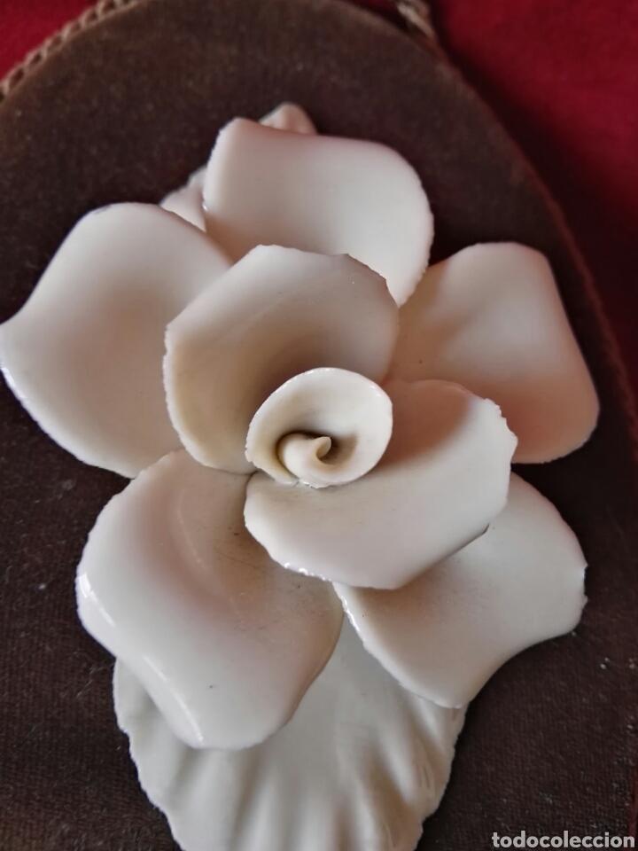 Antigüedades: Pareja porcelana flor las dos distintas antiguo - Foto 4 - 130335056