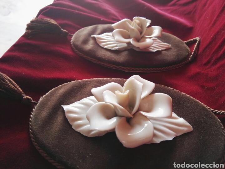 Antigüedades: Pareja porcelana flor las dos distintas antiguo - Foto 8 - 130335056