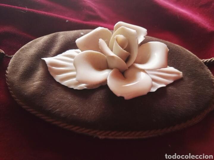 Antigüedades: Pareja porcelana flor las dos distintas antiguo - Foto 9 - 130335056
