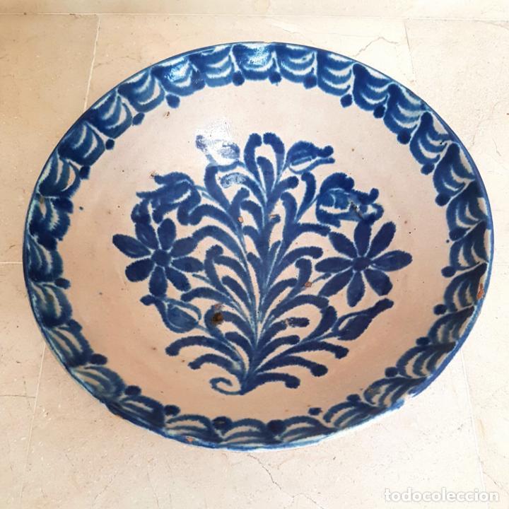 EXCEPCIONAL FUENTE HONDA ANTIGUA EN CERAMICA DE FAJALAUZA,(GRANADA) (Antigüedades - Porcelanas y Cerámicas - Fajalauza)