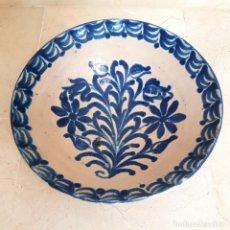 Antigüedades: EXCEPCIONAL FUENTE HONDA ANTIGUA EN CERAMICA DE FAJALAUZA,(GRANADA). Lote 130340810