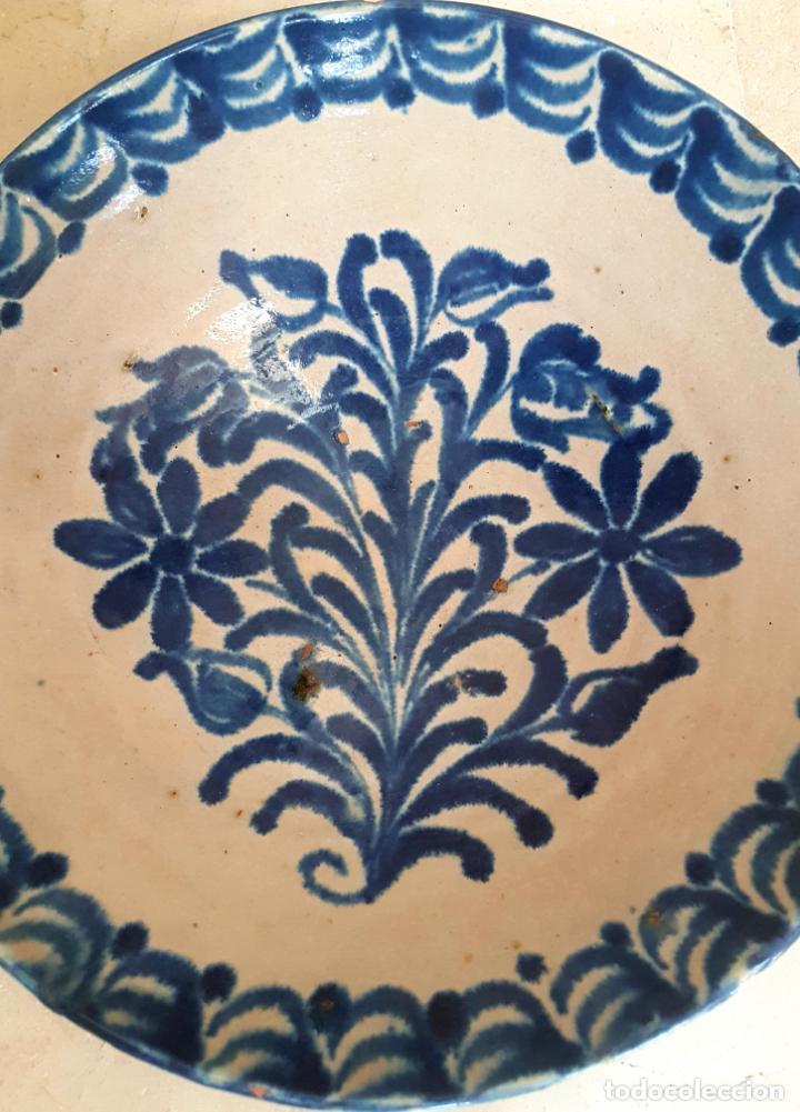 Antigüedades: EXCEPCIONAL FUENTE HONDA ANTIGUA EN CERAMICA DE FAJALAUZA,(GRANADA) - Foto 2 - 130340810