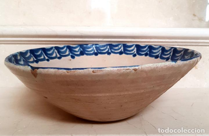 Antigüedades: EXCEPCIONAL FUENTE HONDA ANTIGUA EN CERAMICA DE FAJALAUZA,(GRANADA) - Foto 4 - 130340810