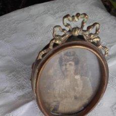 Antigüedades: MARCO DE BRONCE ANTIGUO. Lote 130343718