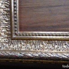 Antigüedades: EXCEPCIONAL MARCO MOLDURA DORADA. PARA OBRA MÁXIMO 23X57.. Lote 130169326