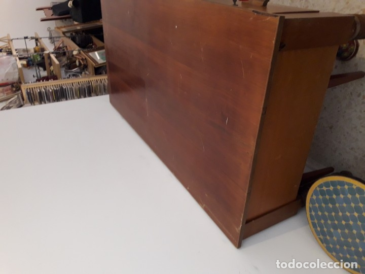 Antigüedades: Mesa escritorio Hotel Alfonso XII Sevilla de madera maciza. - Foto 3 - 110279171