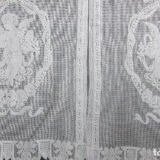 Antiquitäten - Pareja de cortinas modernistas bordadas a mano 37 x 71 cnts - 130414646
