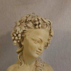 Antigüedades: FIGURA BUSTO DE MUJER EN YESO-ESCAYOLA. Lote 130434066
