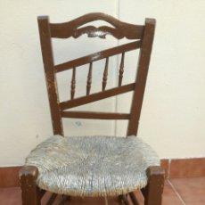 Antigüedades: ANTIGUA SILLA DE ENEA BAJA. Lote 130437618