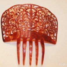 Antigüedades: PEINETA GRANDE DE CELULOIDE, LEER DESCRIPCIÓN. Lote 130444574