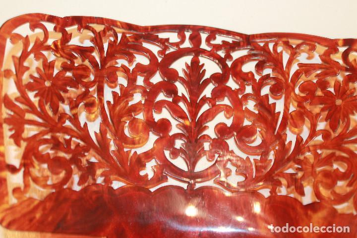 Antigüedades: Peineta grande de celuloide, LEER DESCRIPCIÓN - Foto 4 - 130444574
