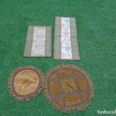 Antigüedades: 4 TAPETES ANTIGUOS - 2 REDONDOS Y 2 CUADRADOS. Lote 130449966