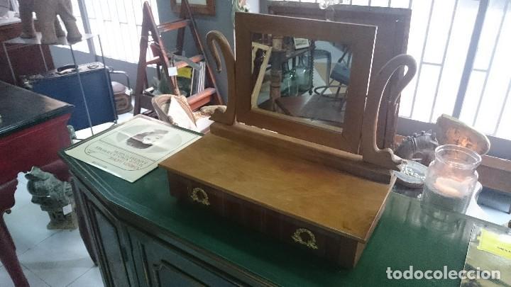 ANTIGUO TOCADOR IMPERIO EN MADERA DE NOGAL. PERFECTO. SIGLO XIX (Antigüedades - Muebles Antiguos - Auxiliares Antiguos)